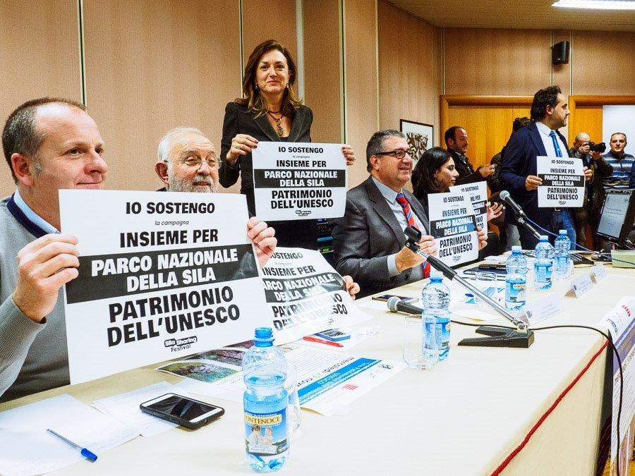 Sostegno alla candidatura del Parco della Sila durante la conferenza all'Università della Calabria.