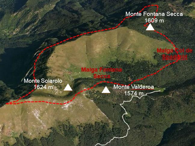 Monte Fontana Secca e Col de Spadaròt